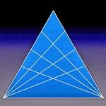 تست هوش: مثلث ها را بشمارید.
