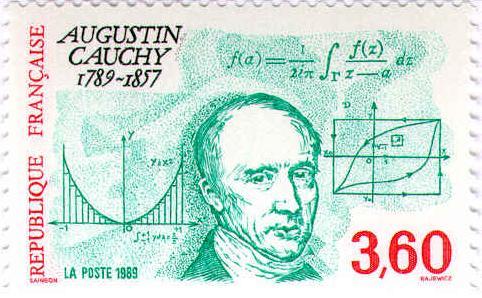 تمبر یادبود آگوستین لویی کوشی، 1989، فرانسه