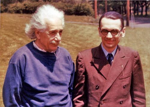 کورت گودل در کنار آلبرت اینشتین
