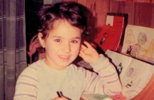 مریم میرزاخانی در خردسالی
