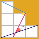 معمای ریاضی: زاویه مجهول